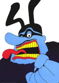 The Blue Meanie made me do it! Image found on GaiaBlooming.