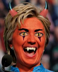 Maybe she is the devil ... or maybe some people have too much time on their hands. Image found on LockerDome.