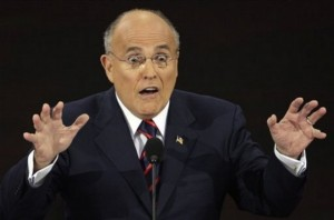 I know it's a surprise, Rudy, but you were the mayor on Sept. 11. Just thought you should know. Image found on Wonkette.