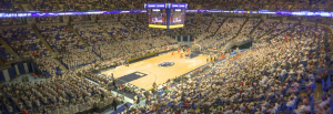 What a venue with a capacity of 15,000 people looks like (this is the Bryce Jordan Center at Penn State, which seats just over 15,000). Gosh, it looks quite a bit different ... Image found on PolitiFact.