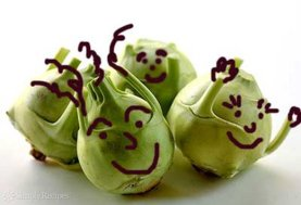 Sorry, kohlrabi, I don't eat anything with a cartoon face. Image found on SimplyRecipes.