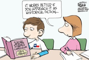 No, sorry, even fiction doesn't want to get tagged with this crap. Editorial cartoon by John Branch, San Antonio Express-News.