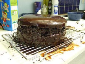 The mistake here: frosting while hot. And yet it's still edible. Image found on The Stir/CafeMom.