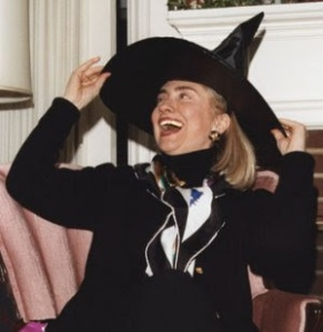 How obsessed partisans see Hillary Clinton. Personally I don't see her as a good or bad witch ... was there an annoying witch in Wizard of Oz? Image found on DirectorBlue.