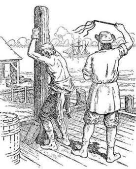 An actual whipping post. Note that it bears little resemblance to Donald Trump. Image found on BookDrum.