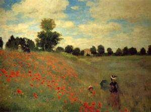 Monet and poppies? What's not to love? Wild Poppies, near Argenteuil, by Claude Monet found on WikiArt.