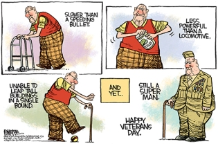 We salute you! Editorial cartoon by Rick McKee, Augusta Chronicle.