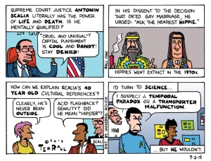 It's a theory ... Cartoon by Ted Rall.