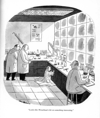 Bottle that for me, please. Cartoon by Charles Addams.