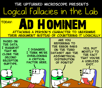 """You also have a distinct odor ... I think it's called """"loser."""" Image found on The Upturned Microscope."""