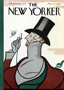 Eustace Tilley graces the very first issue of The New Yorker. Image found on Wikimedia Commons.