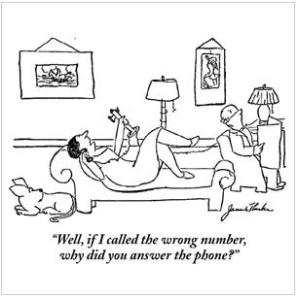 It's a good question ... Cartoon by James Thurber.