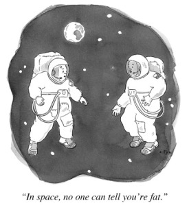 ... and that's why I wanna be an astronaut! Cartoon by Emily Flake.