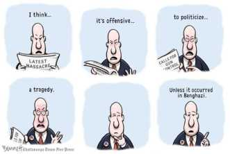 Now at nearly 22 months and counting ... score! Editorial cartoon by Clay Bennett, Chattanooga Times-Free Press.