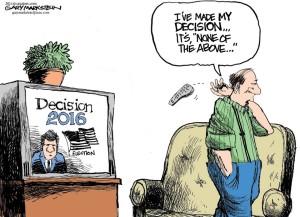 PLEASE can we start over??? Editorial cartoon by Gary Markstein, Milwaukee Journal Sentinel.