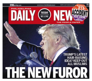 Funny, yes, but it doesn't exactly help promote civility (especially when the target is so thin-skinned). Image from the Philadelphia Daily News found on the Institute for Civility in Government.