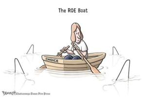 Apparently some people want to go back to this ... maybe clothes-hanger manufacturers? Editorial cartoon by Clay Bennett, Chattanooga Times-Free Press.