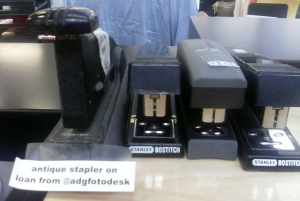 Some more of the staplers. That big one will make you bleed if you're not careful. Possibly from your head after someone's beaned you with it.