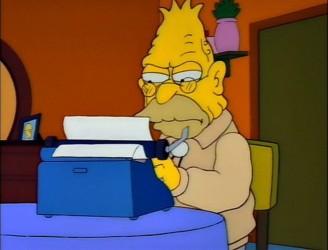 I'm mad, dagnabbit, and I want ever'body to know it! Grandpa Abe found on Thomas Goodrich.