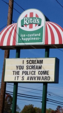 And nobody wants things to be awkward, so just eat some ice cream whydoncha?! Image found on LifeBuzz.