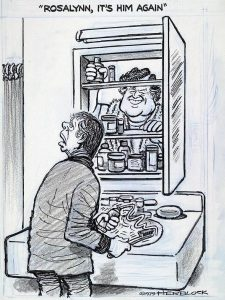 Darn that Ted! Herblock cartoon found on Library of Congress.