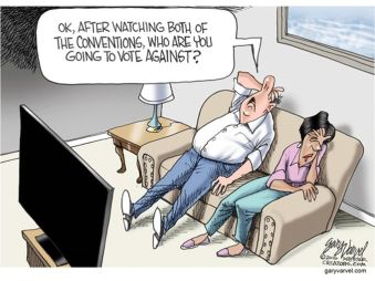 And where's the Pepto-Bismol? Editorial cartoon by Gary Varvel, Indianapolis Star.