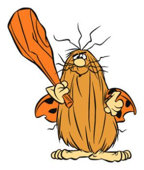 Captain Caveman wasn't exactly erudite. Image found on Hanna-Barbera Wikia.