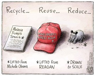 And they say he's not an environmentalist ... Editorial cartoon by Adam Zyglis, Buffalo News.