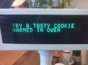 Owen, that'll teach you to steal my lunch! Image found on Sporcle.