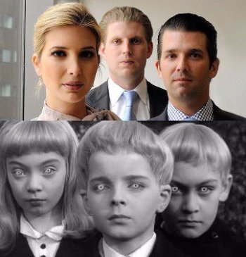 Well, I'd believe they were from Village of the Damned ... Image found on Twitter.