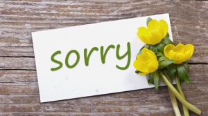 Sincerity and apologies should go hand-in-hand. Image found on grandparents.com.