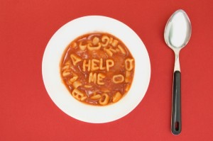 You'll need help if you try the alphabet sandwich ... stick with the soup. Image found on Sungard AS Blog.