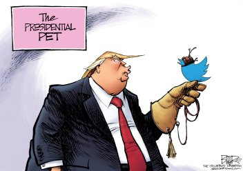 Because dogs and cats are for poor people and those who care about something other than themselves. Editorial cartoon by Nate Beeler, Columbus Dispatch.