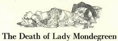 Oh, how dramatic ... how mistaken. Drawing by Bernarda Bryson from Harper's Magazine.